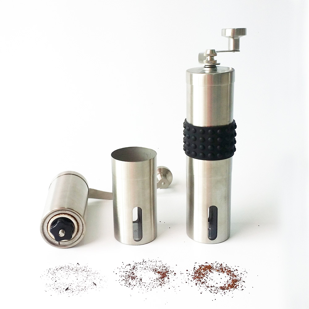 hand stainless steel coffee burr grinder