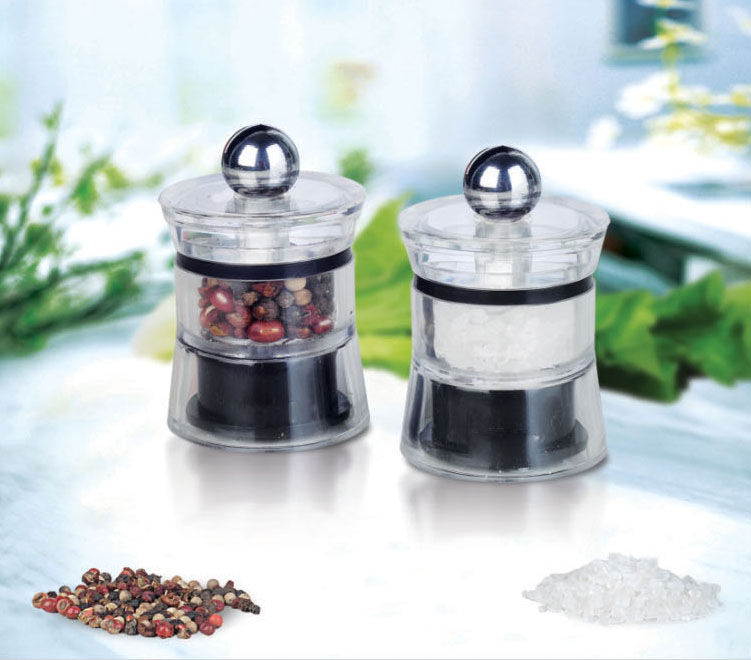 mini acrylic kitchen spice mill