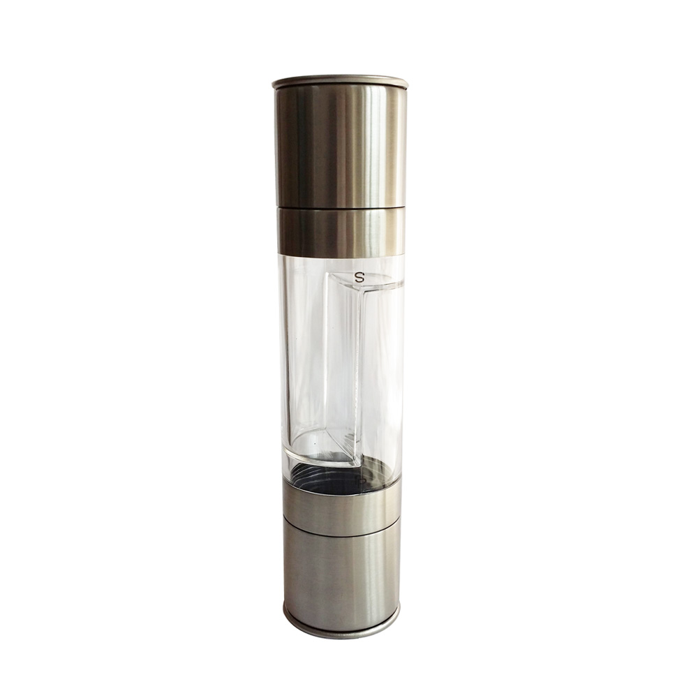 manual 2 in 1 combined salt and pepper grinder set