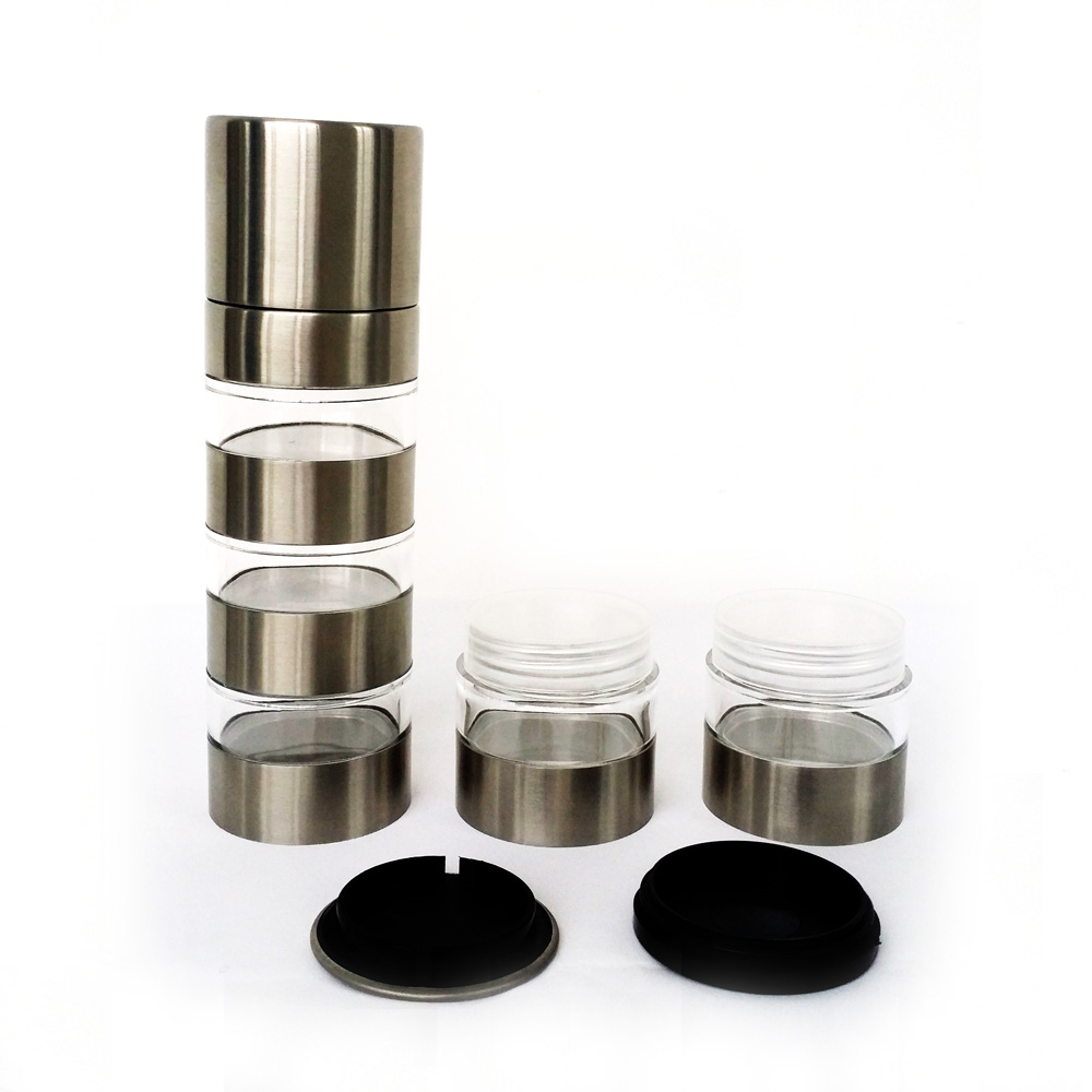 5 in 1 manual stainless steel pepper mill
