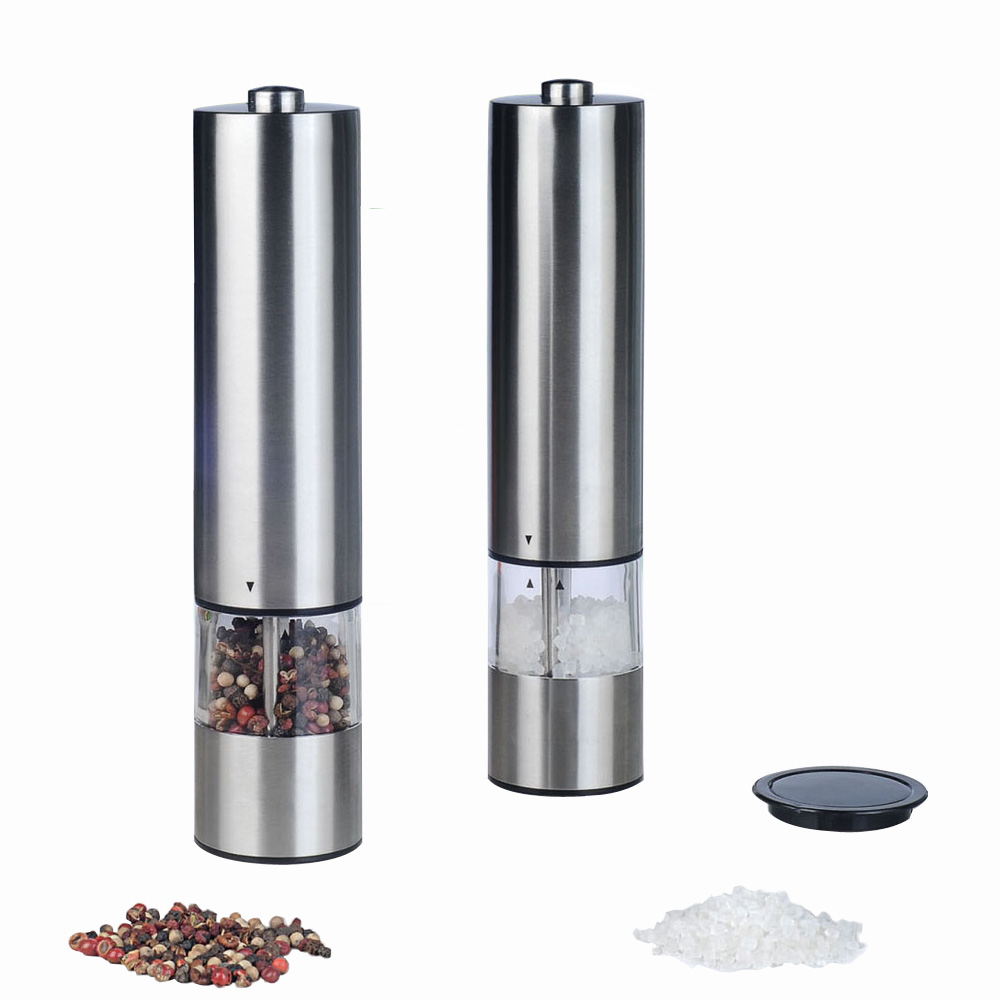 best stainless steel automatic push pepper grinder