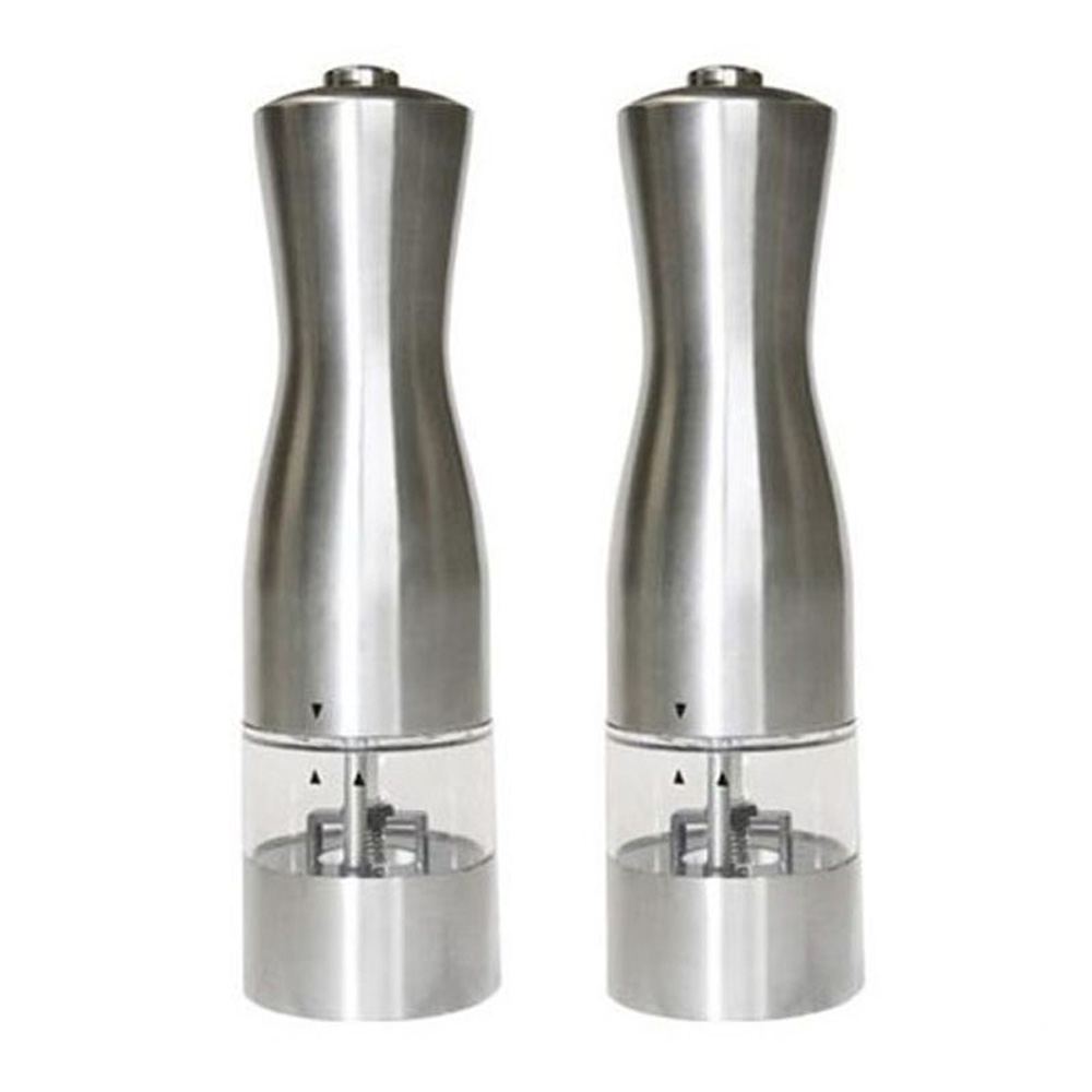stainless steel battery powered pepper mills with light
