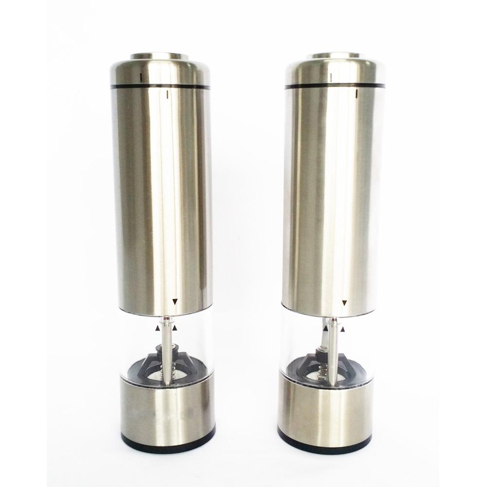 touch electrical salt pepper mill grinder set