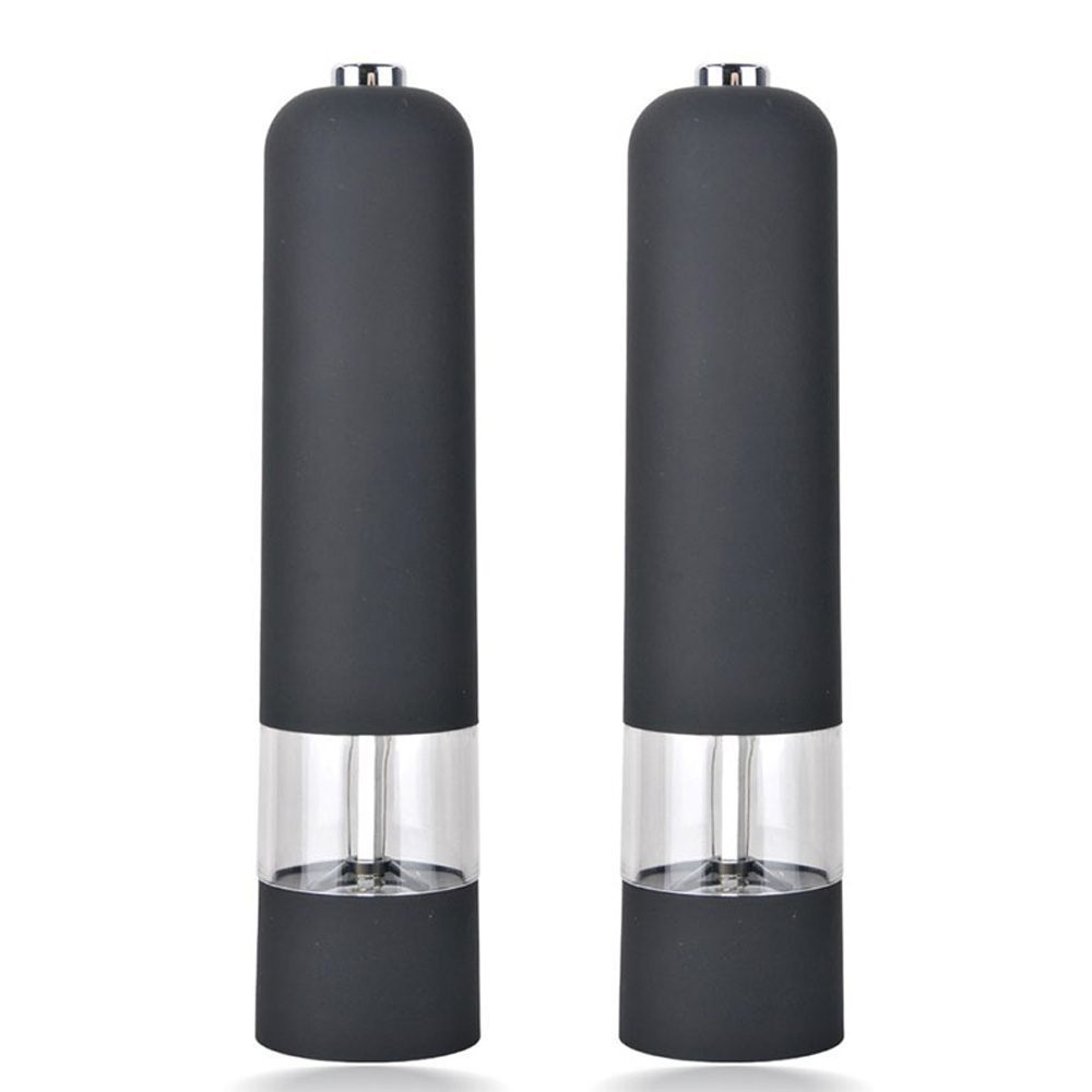 plastic electric salt and pepper shakers