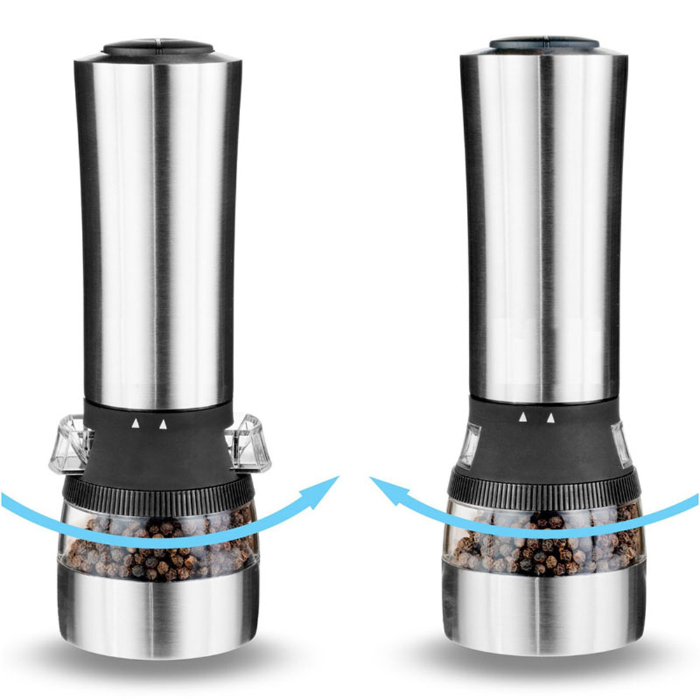 stainless steel 2 in 1 Electric Salt & Pepper Grinder