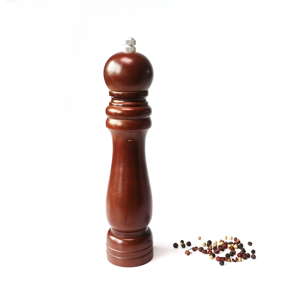best factory wooden pepper mill 9 inch