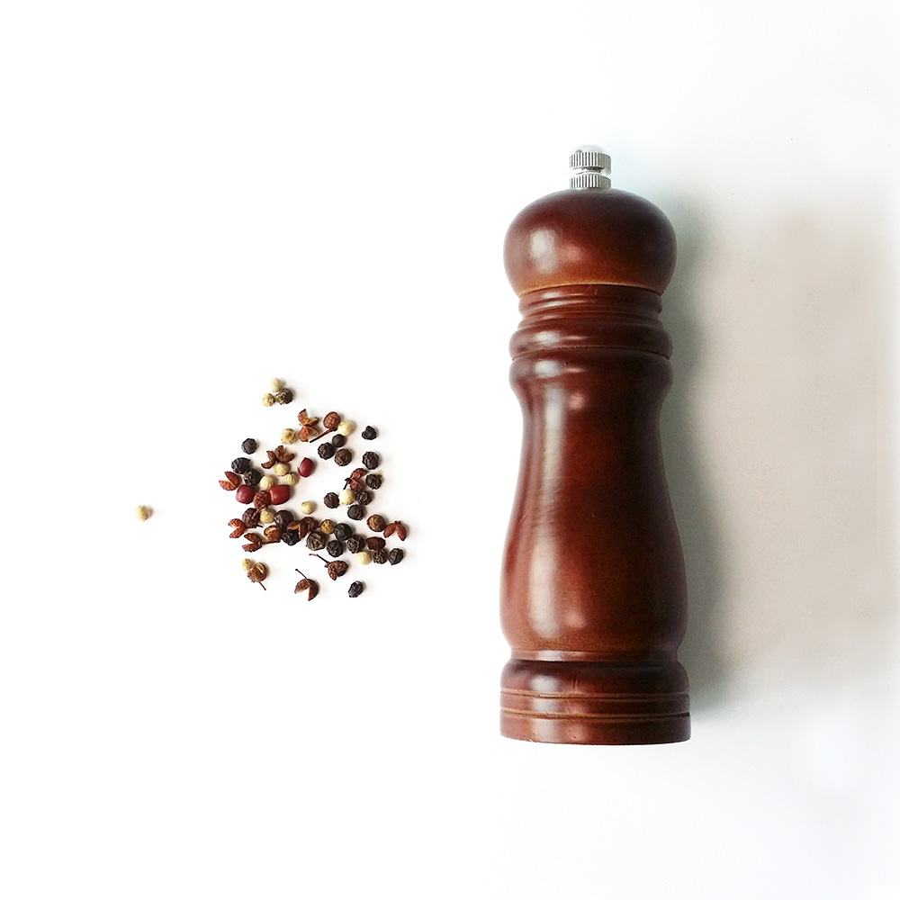 6 inch wooden spice mill wholesale