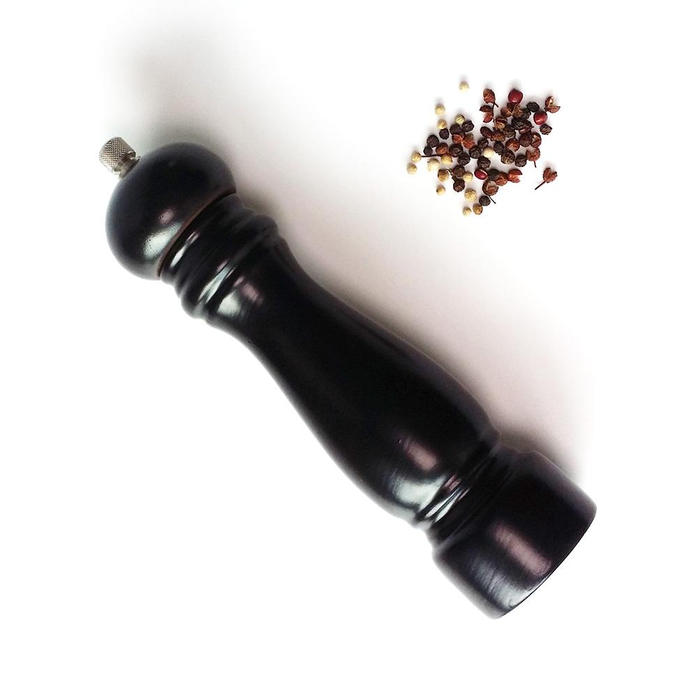 rubber wood salt pepper mill grinder