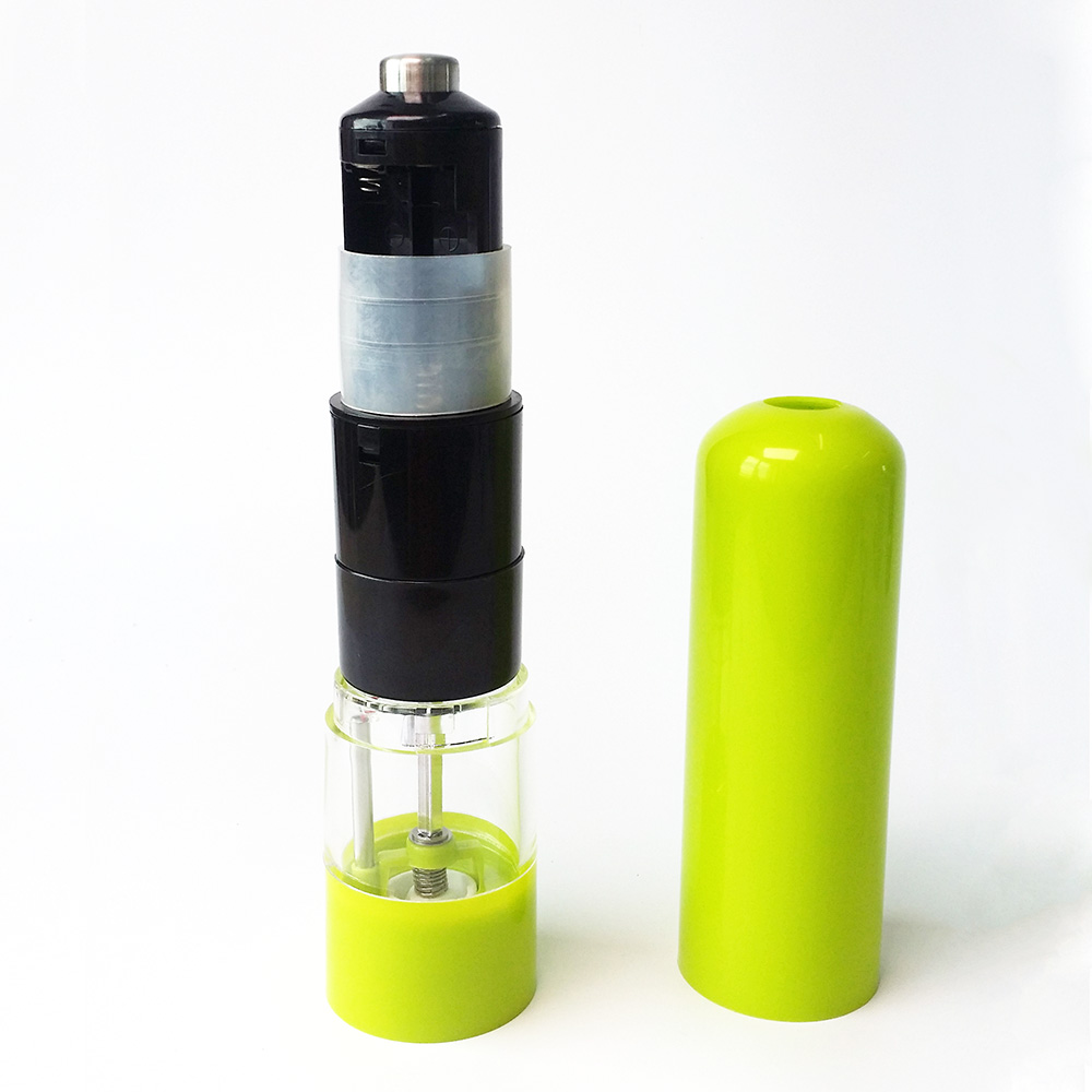 factory electrical pepper grinder with light and ceramic core
