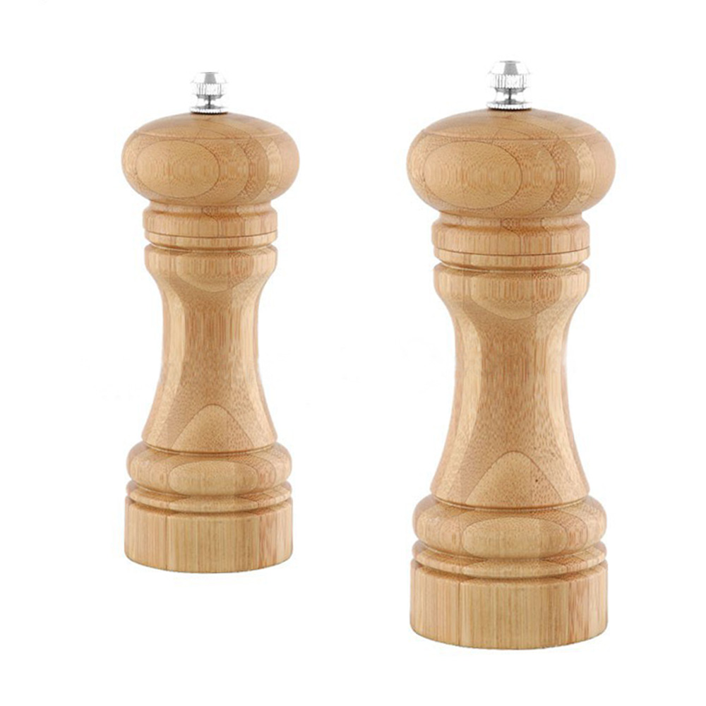 bamboo salt pepper mill grinder-6401C