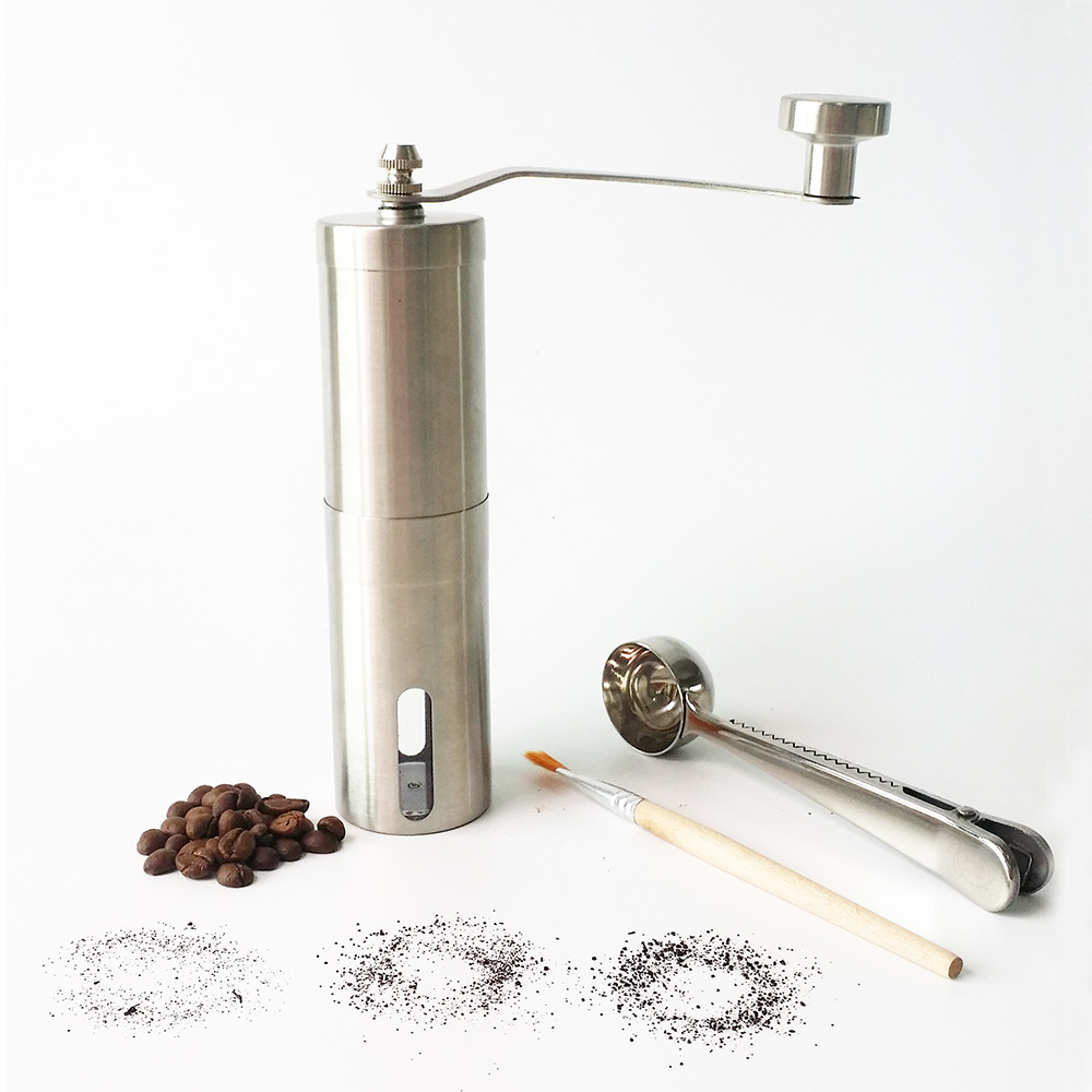 best burr hand coffee bean grinder stainless steel