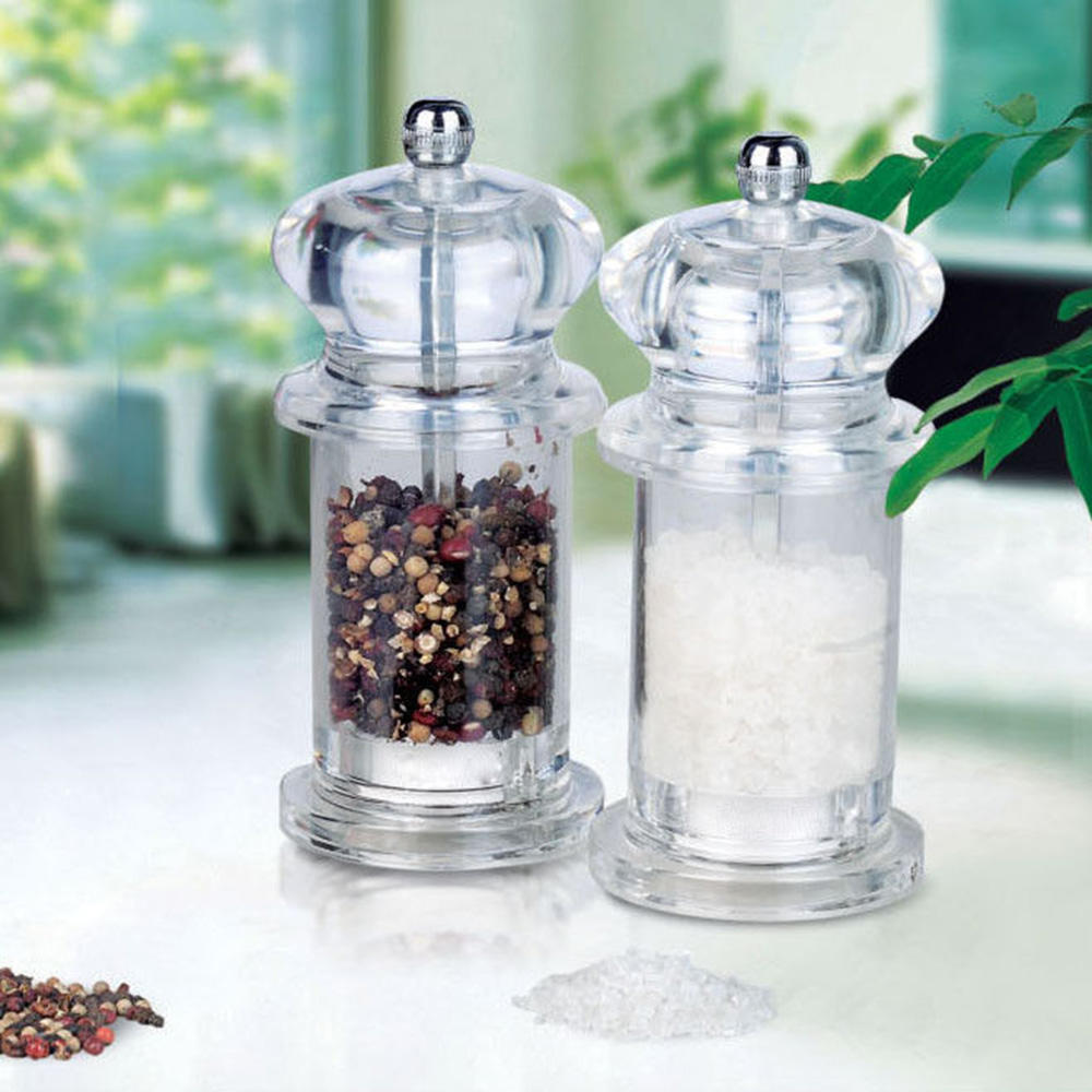 manual acrylic pepper grinder, gourmet mill