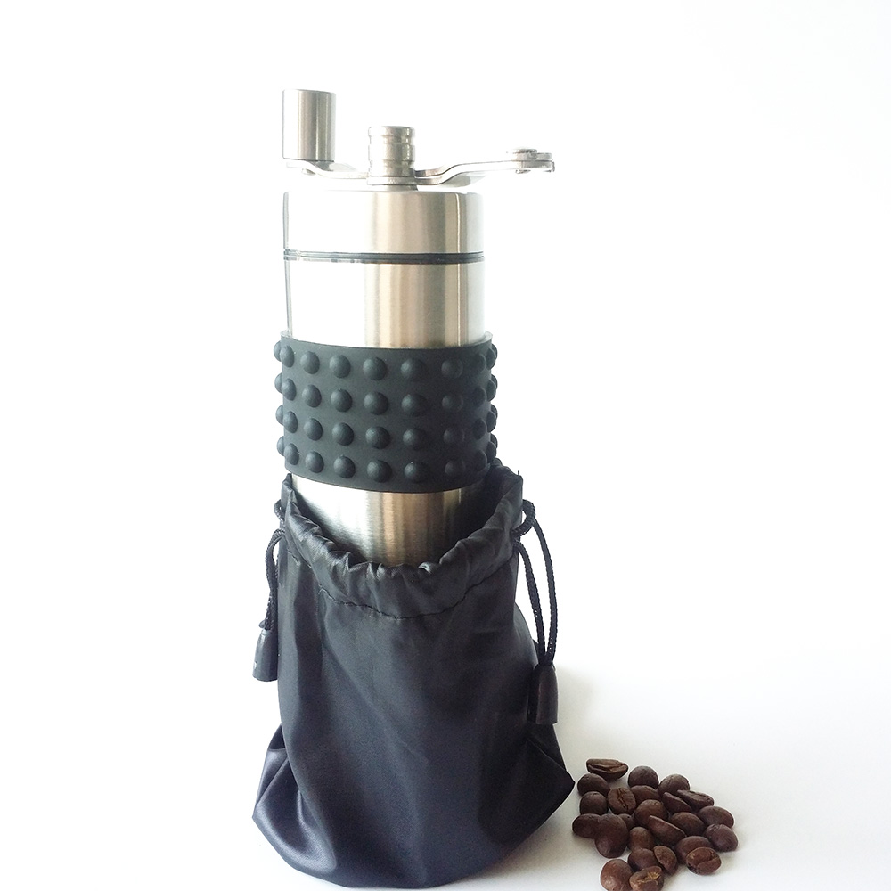 new hand coffee grinder with stainless steel housing and ceramic core