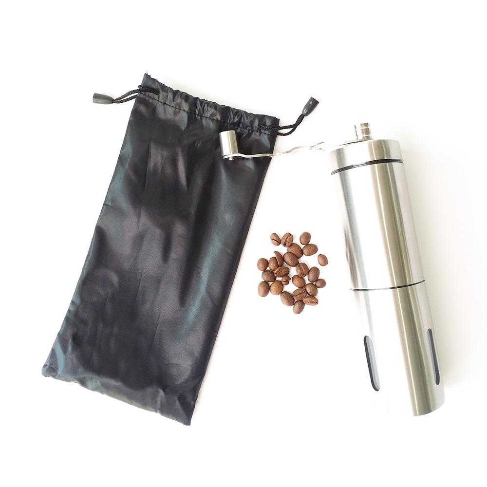 stainless steel best hand coffee grinder in triangle shape