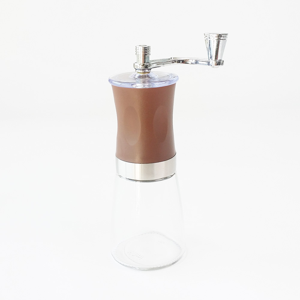 glass hand coffee grinder for espresso