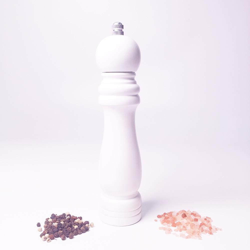 Wood Salt and Pepper Grinder Set with Adjustable Coarseness