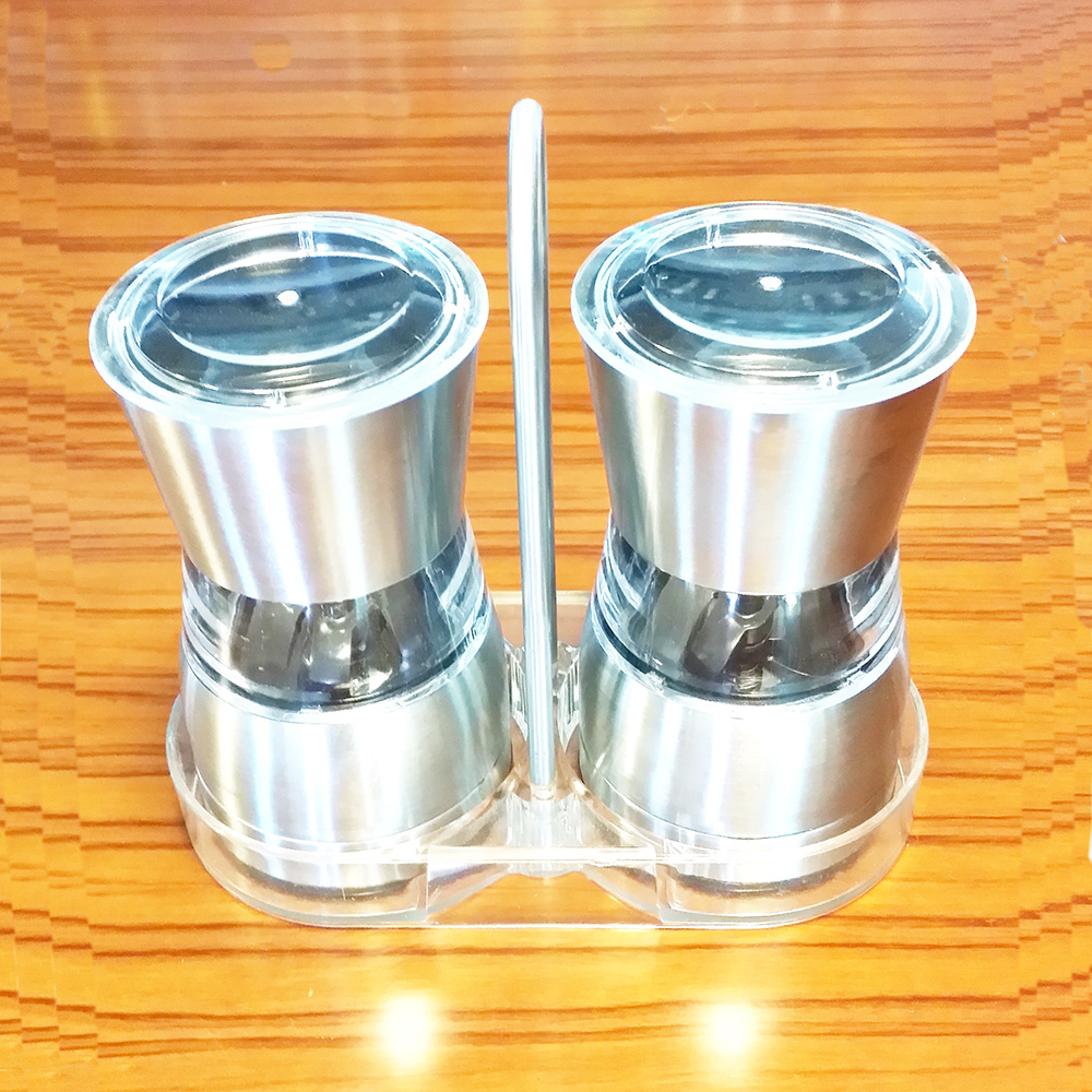 manual stainless steel pepper crusher with holder