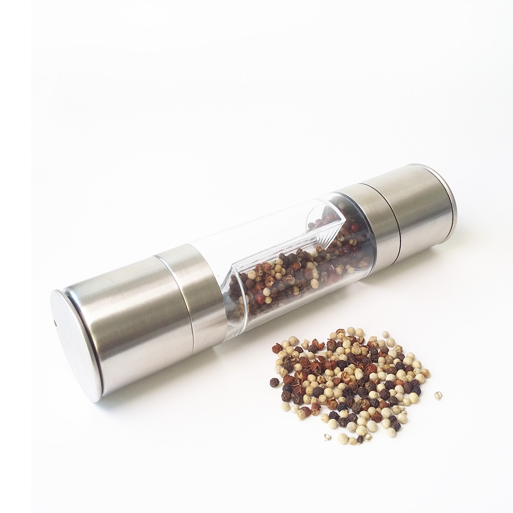 high quality 2 in 1 manual stainless steel salt and pepper mills