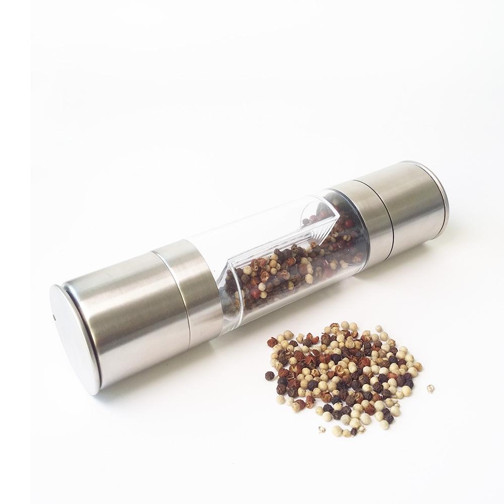 alta qualidade 2 dentro 1 moinhos de sal e pimenta aço inoxidável manuais