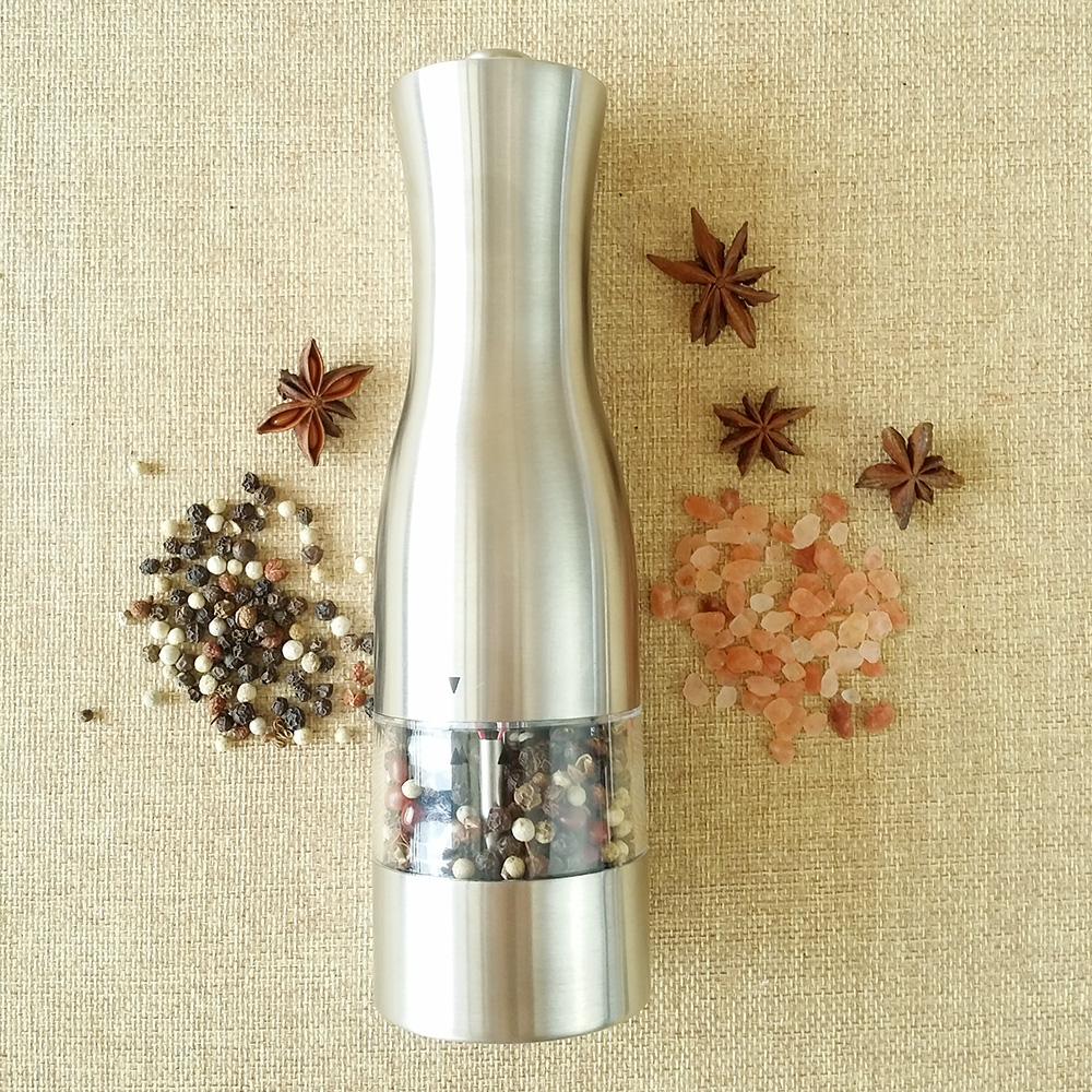 best battery operated pepper mill set with light